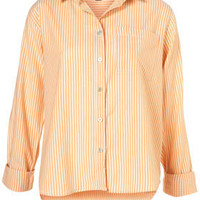 Casual Longsleeve Stripe Shirt - Tops  - Clothing  - Topshop