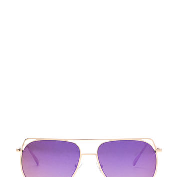Chic Views Cut-Out Brow Bar Sunglasses GoJane.com