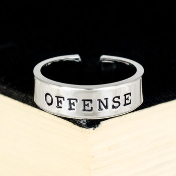 Offense Ring - Gamer Roles - Healer- Adjustable Aluminum Ring