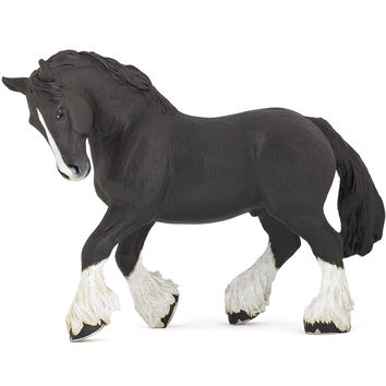 Black Shire Horse Figurine