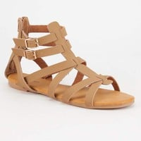 BAMBOO Clean Strap Womens Gladiator Sandals | Sandals
