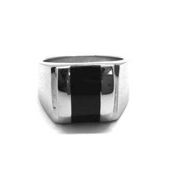 Jet Epoxy Stainless Steel Ring
