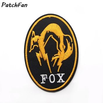 A0080 Metal Gear Solid Foxhound Fox Hound Golden Embroidered IRON ON/ SEW ON Cool Biker Vest Patch Badge Halloween