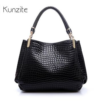 Luxury Women Designer Handbag High Quality Brand Crocodile Pattern Leather Lady Portable Tote Bag Sling Satchel Sac A Main Femme