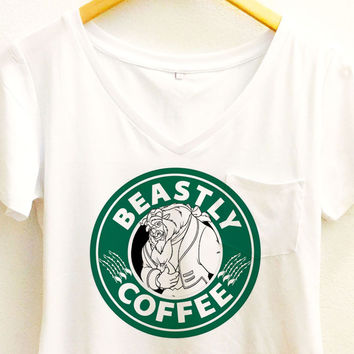 Beastly Coffee Shirt | Beauty and the Beast Starbucks | Disney