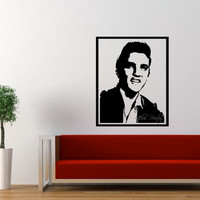 Elvis Presley Wall Decal Framed Large 17 x 21 Inches
