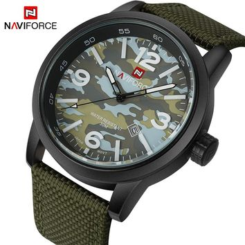 NAVIFORCE Watch: Sports Military Quartz Analog Wristwatch with Nylon Strap Wristband