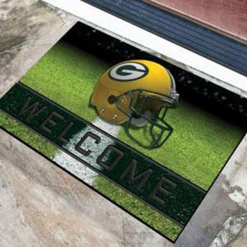 Green Bay Packers Door Mat 18x30 Welcome Crumb Rubber