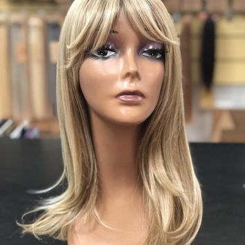 Hairdo Long with Layers Wig Cap- Wigs Layered Lengths Bangs . Heat Friendly Synthetic Capless
