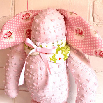 Vintage Chenille Bunny - Stuffed Chenille Bunny - Stuffed Chenille Rabbit - Plush Chenille Bunny - Stuffed Easter Bunny Toy - Easter Rabbit