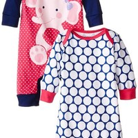 Gerber Baby-Girls Newborn Elephant Coverall Two-Pack
