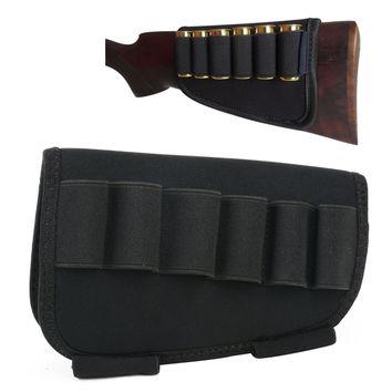 Mayitr Pouches Accessories Cartridges Bullet Holder Ammo Carrier 6 Shell Loops Buttstock Neoprene for Hunting