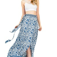 Vine Wrap Maxi Skirt