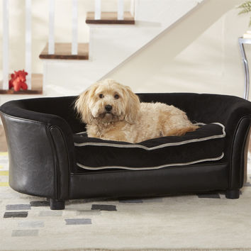 Elevated Large Dog Bed Sofa in Black Color