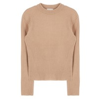 Ribbed Knit High Neck Top | MIXXMIX