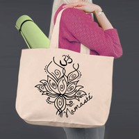 Namaste   Personalized Canvas Tote Bag