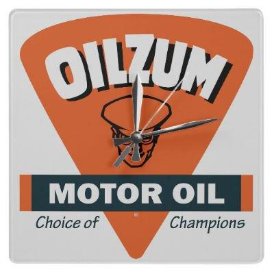 Oilzum Motor Oil vintage sign clock from Zazzle.com