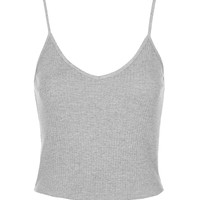 PETITE Ribbed Cropped Cami - Topshop