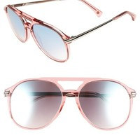 Wildfox 'Baroness Deluxe' 55mm Aviator Sunglasses | Nordstrom