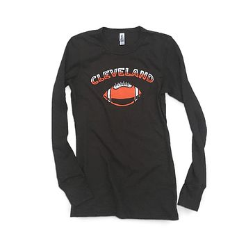Cleveland Football thermal - Women's long sleeve tee