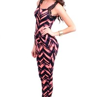 Pleated Jumpsuit- N.Coral from Hot & Delicious at Beyond Trends : Women's Fashion Clothing & Junior Trendy Clothing & Accessories