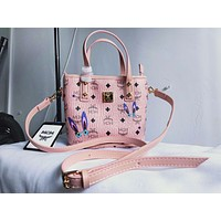 MCM Museum Series Studded Shopping Bag Bag Messenger Bag Shoulder Bag Tote Bag F-XM-LL pink