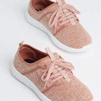 Pink Marled Low Top Trainers