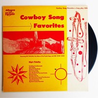 Cowboy Song Favorites Record by GiddyGirlVintage on Etsy