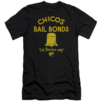 The Bad News Bears Chico's Bail Bonds Black Fine Jersey T-Shirt
