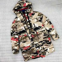 Louis Vuitton LV X Supreme Winter Fashionable Men Women Camouflage Hooded Cardigan Jacket Coat