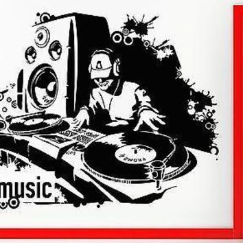 Wall Stickers Vinyl Decal DJ Night Club Music Subwoofer Techon Decor Unique Gift (z2391)