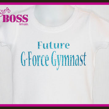 Gymnastics Bling Shirt School Spirit Wear Sparkle Girls Custom Cheerleading Design own Colors Sports Team Name Birthday Personalized Glitter