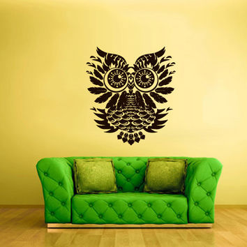 Wall Vinyl Sticker Decals Decor Art Bedroom Design Mural Owl Bird Tattoo Mandala Tribal (z2411)