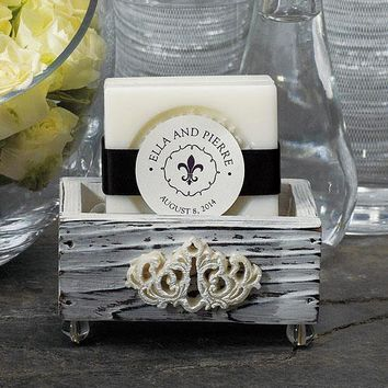 Vintage Shabby Chic Wedding Favor Boxes (Pack of 6)