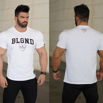 Sports Casual Slim Permeable T-shirts [10657853443]