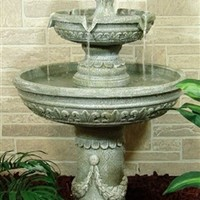 Classic Two Tier Designer Fountain by Outdoor Classics