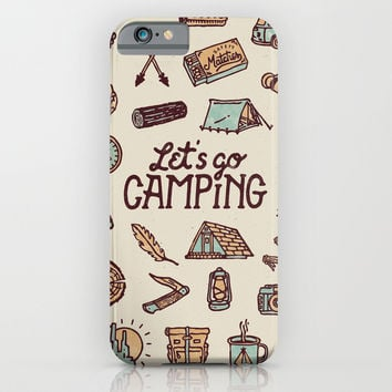 Lets Go Camping iPhone & iPod Case by WEAREYAWN