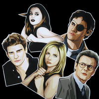 BUFFY Pack of 5 Stickers