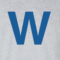 Chicago Cubs W is for Win logo Tee T-Shirt