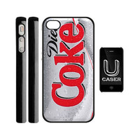 Diet Coke Art Photo on Hard Plastic iPhone 5 Case Cover