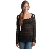 Rip Curl Lacey Shirt Top Black
