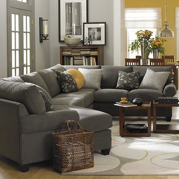 Left Cuddler Sectional Modular Sofa