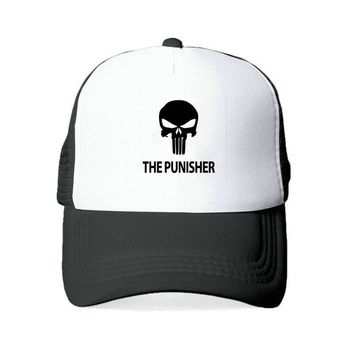 Trendy Winter Jacket The Punisher Baseball Caps For Women Men US Printed Skull Snapback Hats American Skeleton Sniper Tactical Hat Cap YY419 AT_92_12