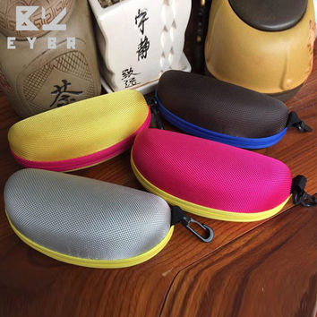 Hot sale colorful cover sunglasses case for women glasses box with lanyard zipper eyeglass cases for men 4 colors SS082