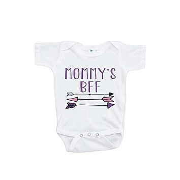 7 ate 9 Apparel Baby Girls' Novelty Mommy's BFF Onepiece