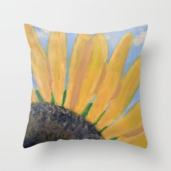 Sunflower Throw Pillow by Lindsay
