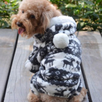 SPECIAL SALE !!! Cute Warm Winter Hoodie Jumpsuit Coat Clothes Costume For Pet Dog Puppy