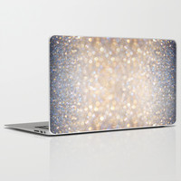 Glimmer of Light (Ombré Glitter Abstract) Laptop & iPad Skin by Soaring Anchor Designs