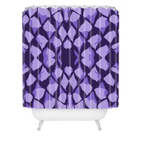 Rosie Brown Purple Gum Drops Shower Curtain