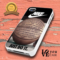 nike basketball just do it and passion for iphone, ipod, samsung galaxy, HTC and Nexus PHONE CASE